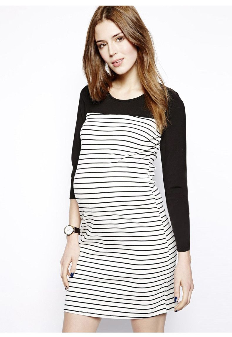 92a2e43f97e Find More Dresses Information about PW060 2015 New maternity autumn dress  fashion soft maternity dresses for pregnant women striped long sleeve  maternity ...