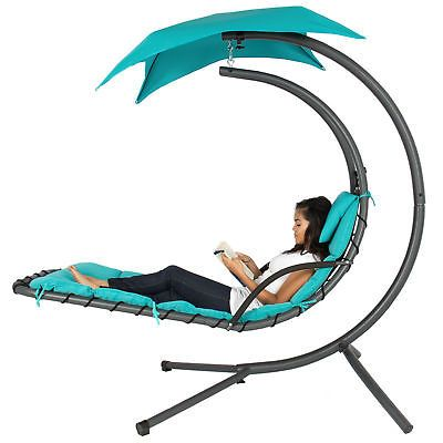 Bcp Hanging Chaise Lounge Chair W Canopy Hammock Swing Chair Hanging Hammock Chair Swinging Chair