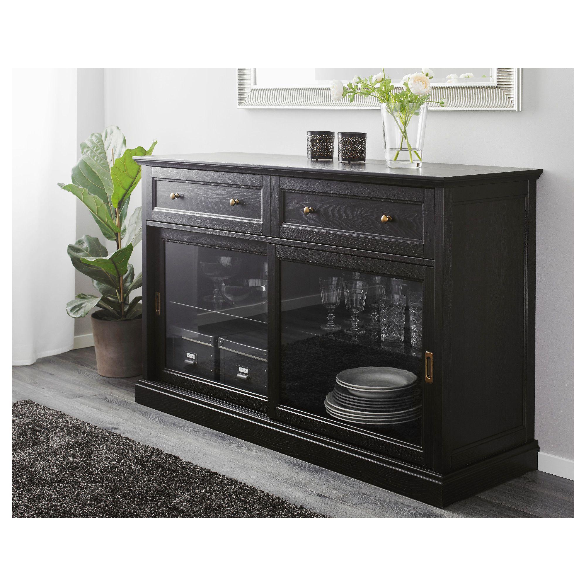 malsj sideboard black stained tv unit schrank. Black Bedroom Furniture Sets. Home Design Ideas
