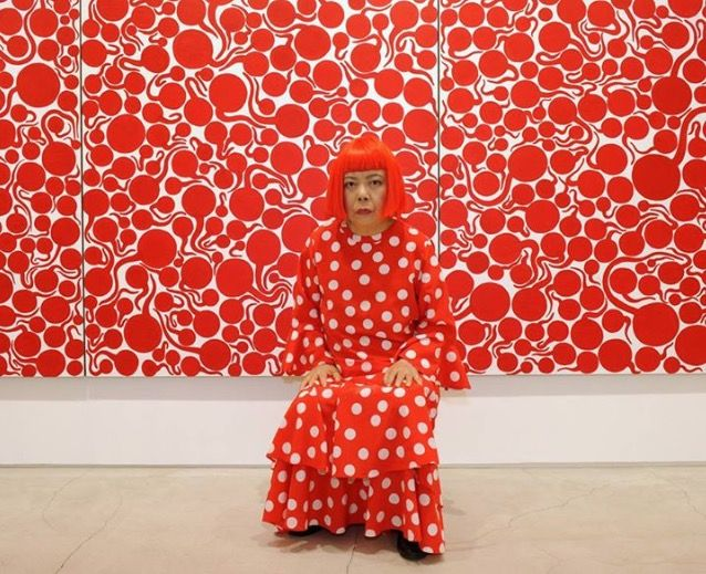 Yayoi Kusama, 86 year-old Japanese artist, who's known for