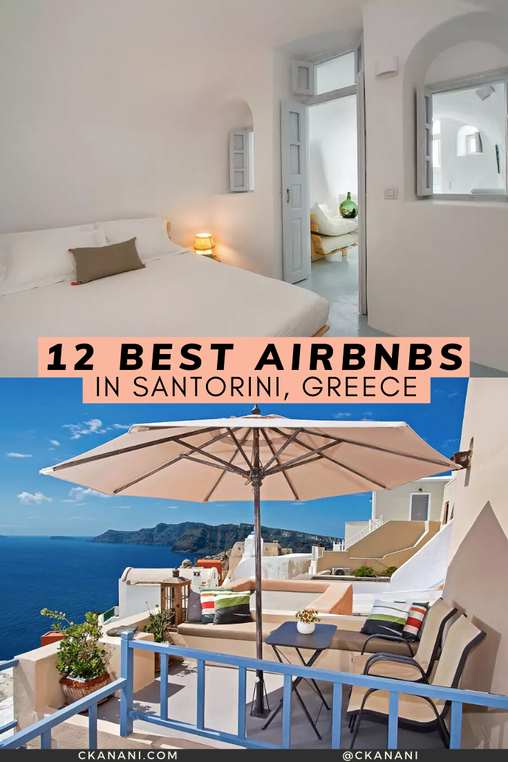 Wondering where to stay in Santorini? Here are the 12 best Airbnb Santorini Greece options! #airbnb #santorini #greece #accommodation #travel #travelguide    Santorini Greece, Santorini Greece honeymoon, Santorini where to stay, Santorini Airbnb, Santorini Greece Airbnb, best Airbnb Santorini, Airbnb in Santorini, where to stay in Santorini Greece, Oia Santorini Airbnb, Oia Santorini hotel