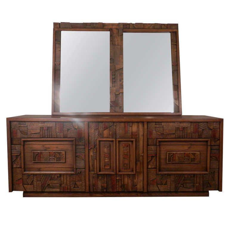 Best Brutalist Dresser By Lane W Mirror Mid Century Modern 400 x 300