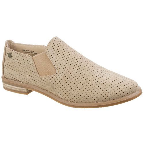 7c3ef5de33d Hush Puppies Womens Analise Clever Suede Slip On Tan Shoe Hush Puppies  Analise Clever is a ladies perforated suede leather slip on loafer for  casual ...