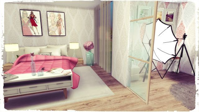 Sims 4 Youtuber Bedroom Sims Cc Sims Sims 4 Sims 4 Build