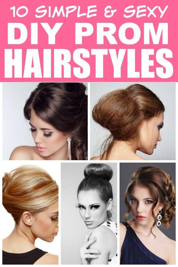 10 Easy Diy Prom Hairstyles Hair Styles Easy Hairstyles Simple Elegant Hairstyles