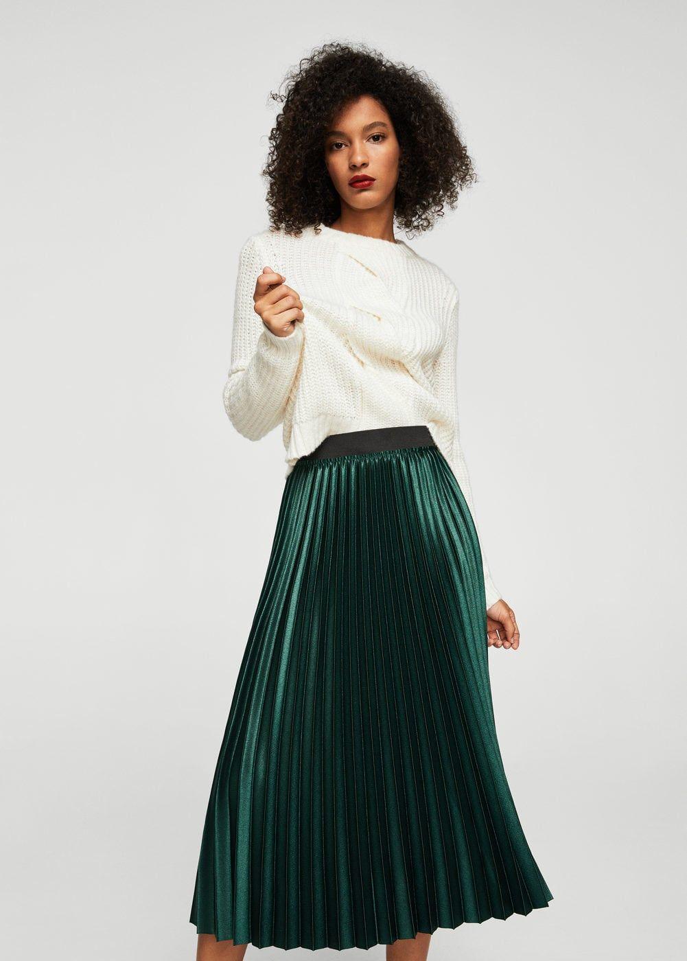 69791f1f0280a Jupe plissée métallisée - Femme   idées tenues   Pinterest   Jupe ...