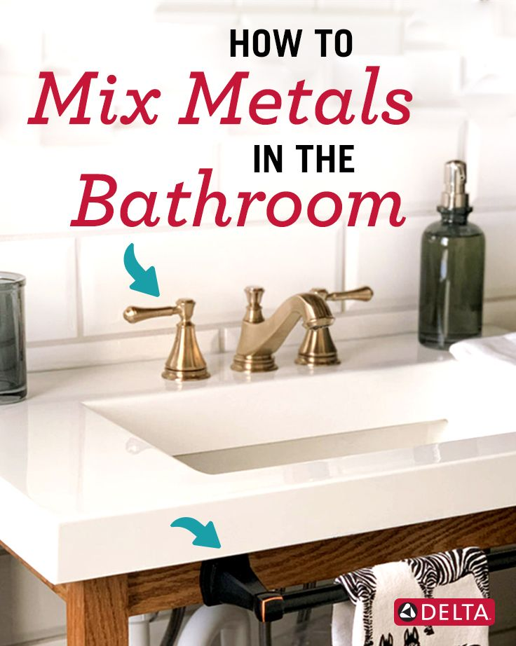 Photo of How to Mix Metals in a Bathroom by Clark and Aldine