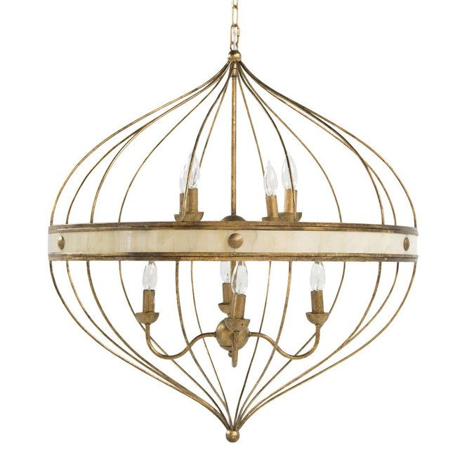 Check out Onion Dome Cage Chandelier from Shades of Light