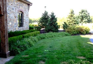 Layered Landscape Liriope Front Border Boxwood Hedge Yew