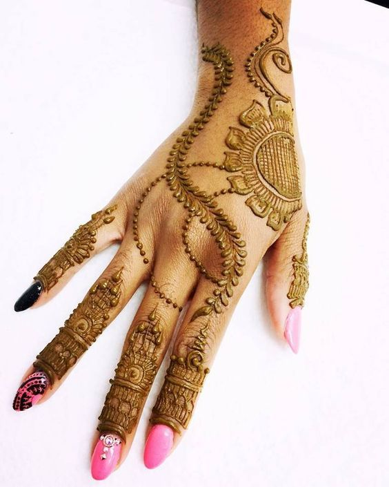 32 Stunning Back Hand Henna Designs to Captivate Mehndi ...