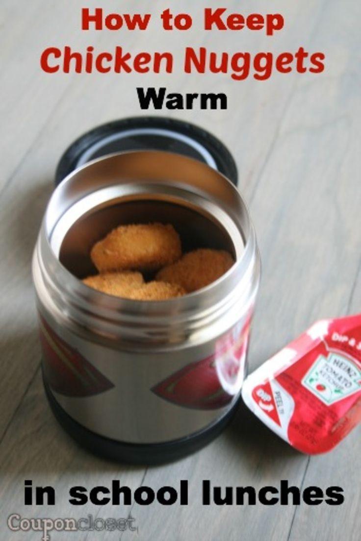 How to keep chicken nuggets warm in school lunchbox #schoollunchideasforkids