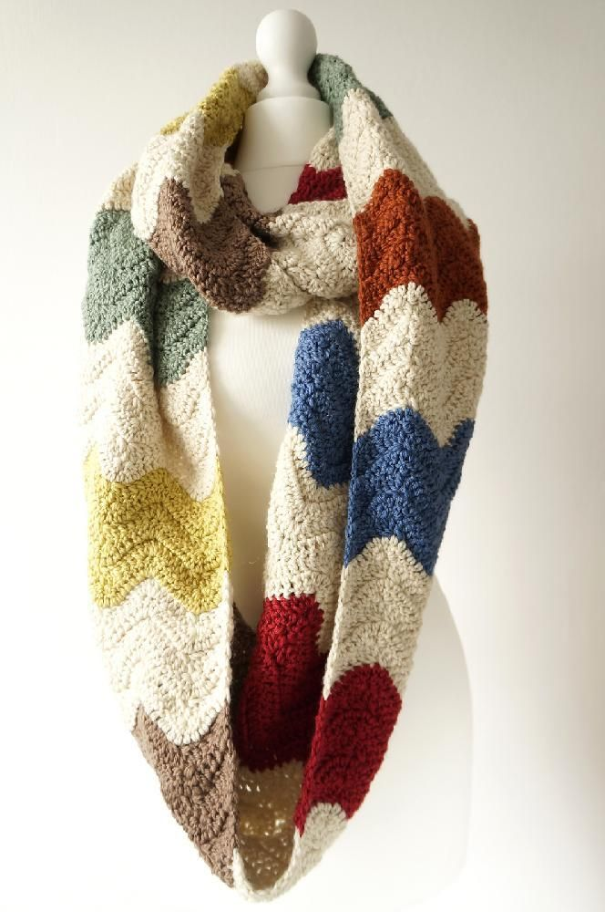 Zigzag infinity scarf by Little Doolally - we love crochet winter accessories at LoveCrochet!