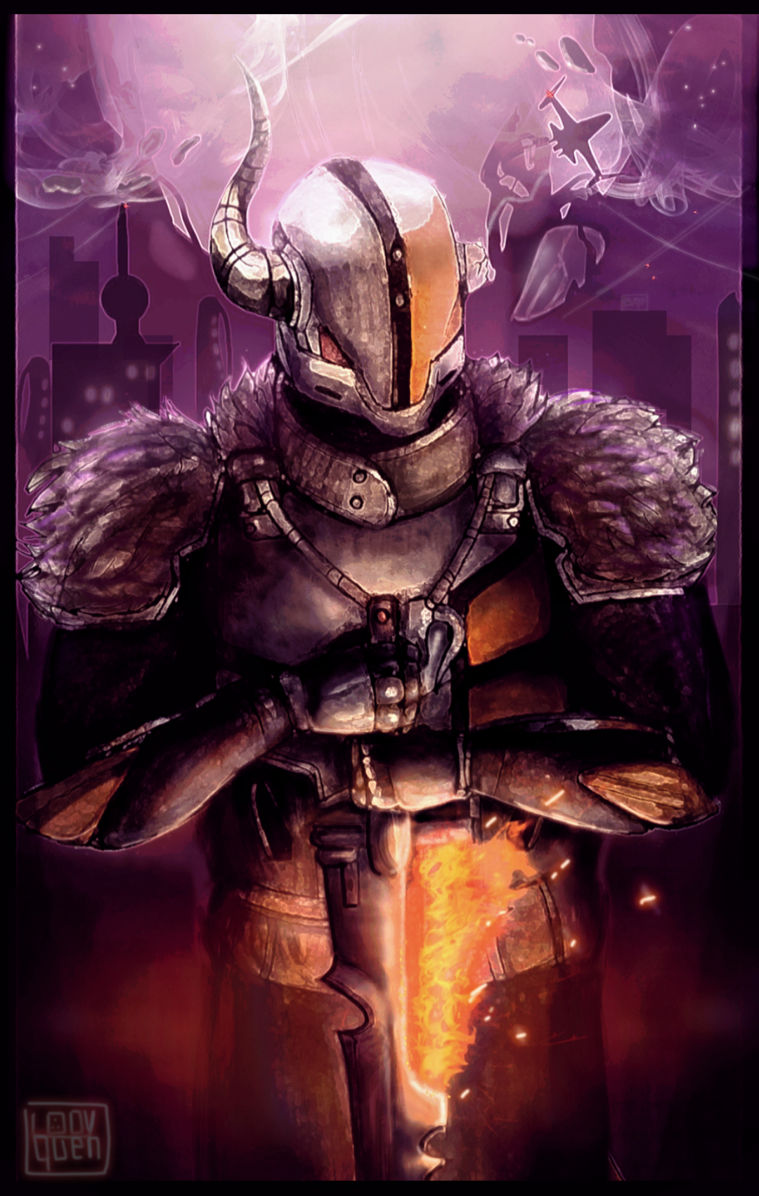 Finished A Painting Of Lord Shaxx I Ve Been Working On For Quite A While Now I Hope You Enjoy My Fanart Of The Bes Destiny Game Destiny Comic Destiny Factions