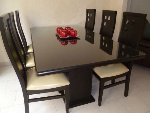 Comedor de madera chocolate 500 375 for Comedores modernos chocolate