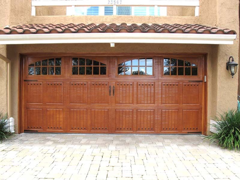 Amarr Classica Faux Finished Garage Door w/Decorative Hardware & Amarr Classica Faux Finished Garage Door w/Decorative Hardware ...