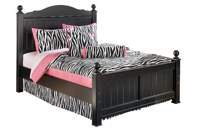 Black Jaidyn Full Poster Bed by Ashley HomeStore Products