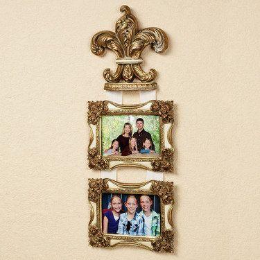Royal Plume Fleur de Lis Double Photo Frame Wall Accent