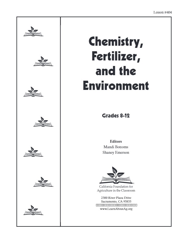 Chemistry, Fertilizer, and the Environment. Lesson Plan