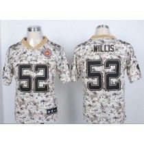 Top Nike 49ers #52 Patrick Willis Camo USMC Men\'s Stitched NFL Elite  6nF4UMwS