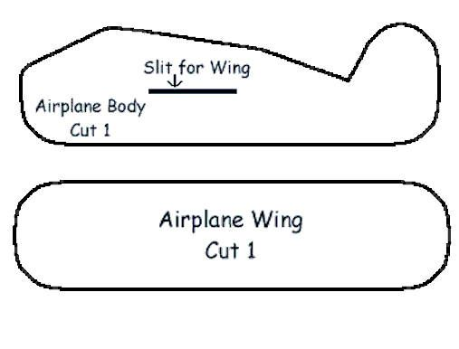 airplane cut out template - styrofoam airplane craft airplanes transportation and craft