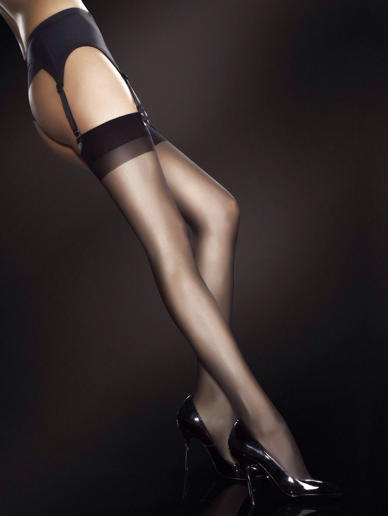 Idea You beautiful long legs lingerie stockings