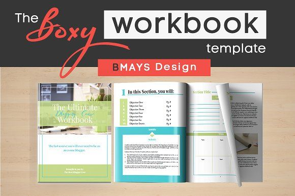 Boxy Workbook & Layout Template by BMAYS Design on @creativemarket