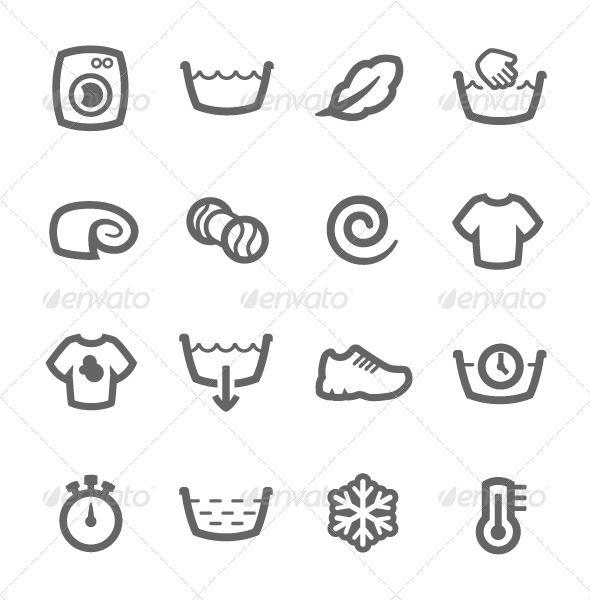 washing machine icons washing machine icons and logo images. Black Bedroom Furniture Sets. Home Design Ideas