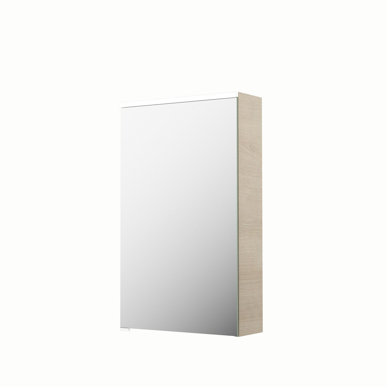 Armoire De Toilette Lumineuse L 45 Cm Imitation Chêne