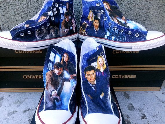 928959550c5f Doctor Who Custom Converse All Stars by ArkhamPrints on Etsy