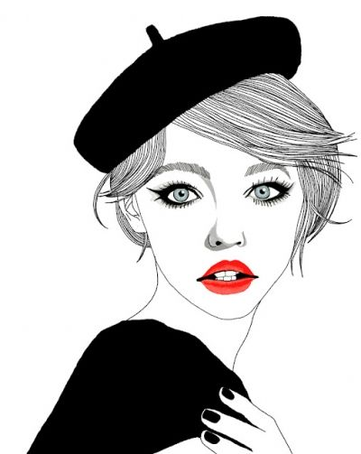 French girl by Hajin Bae