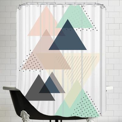 Brayden Studio The Glass Mountain Triangle by The Glass Mountain Shower Curtain