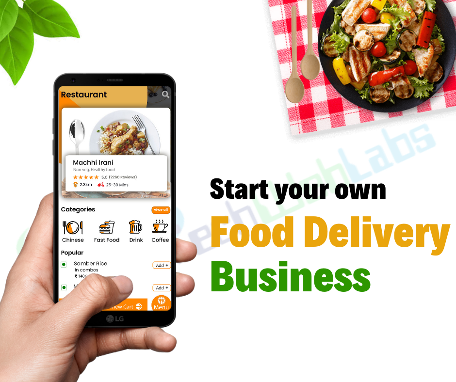 Food delivery app development solutions Food delivery