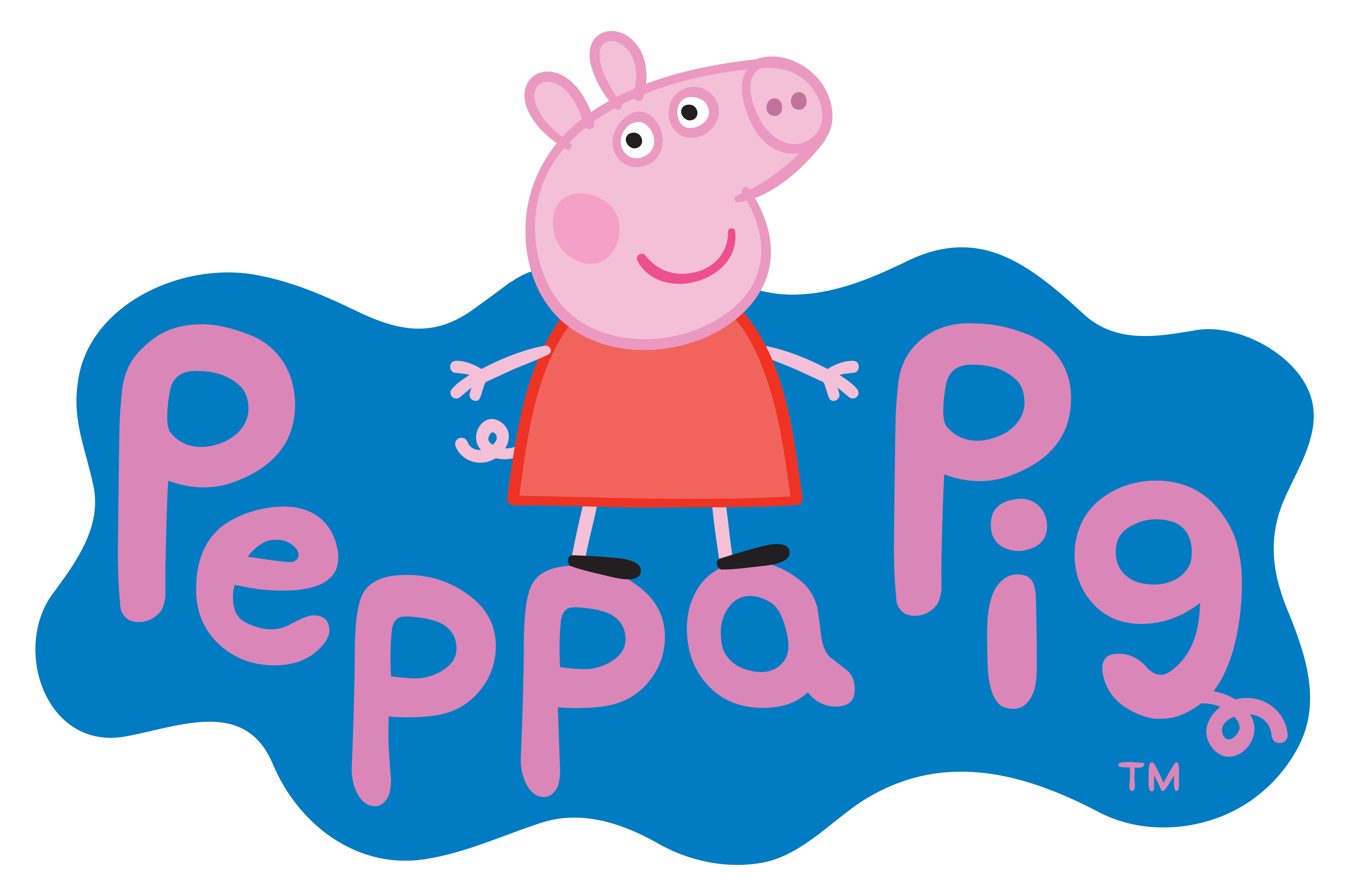Peppa Pig Logo Transparent PNG Clip Art Image Gabi