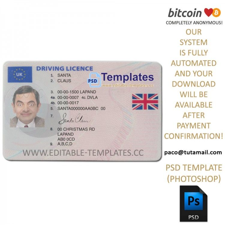 Drivers License Psd Free
