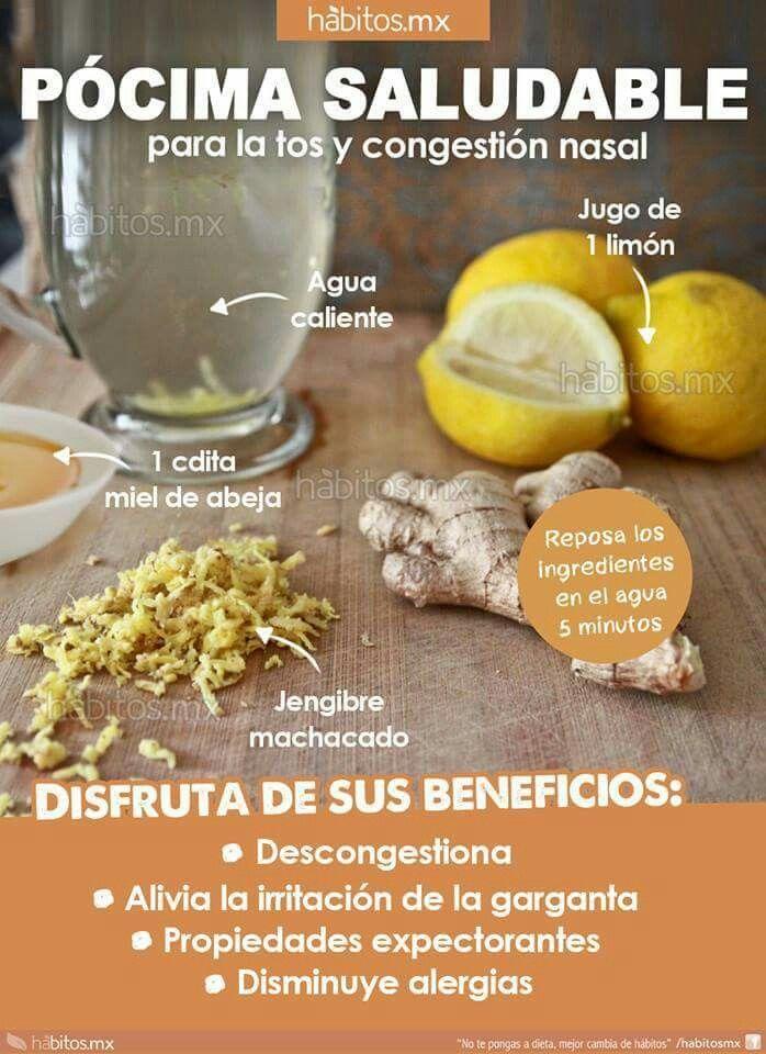 alimentos para la gripe y tos