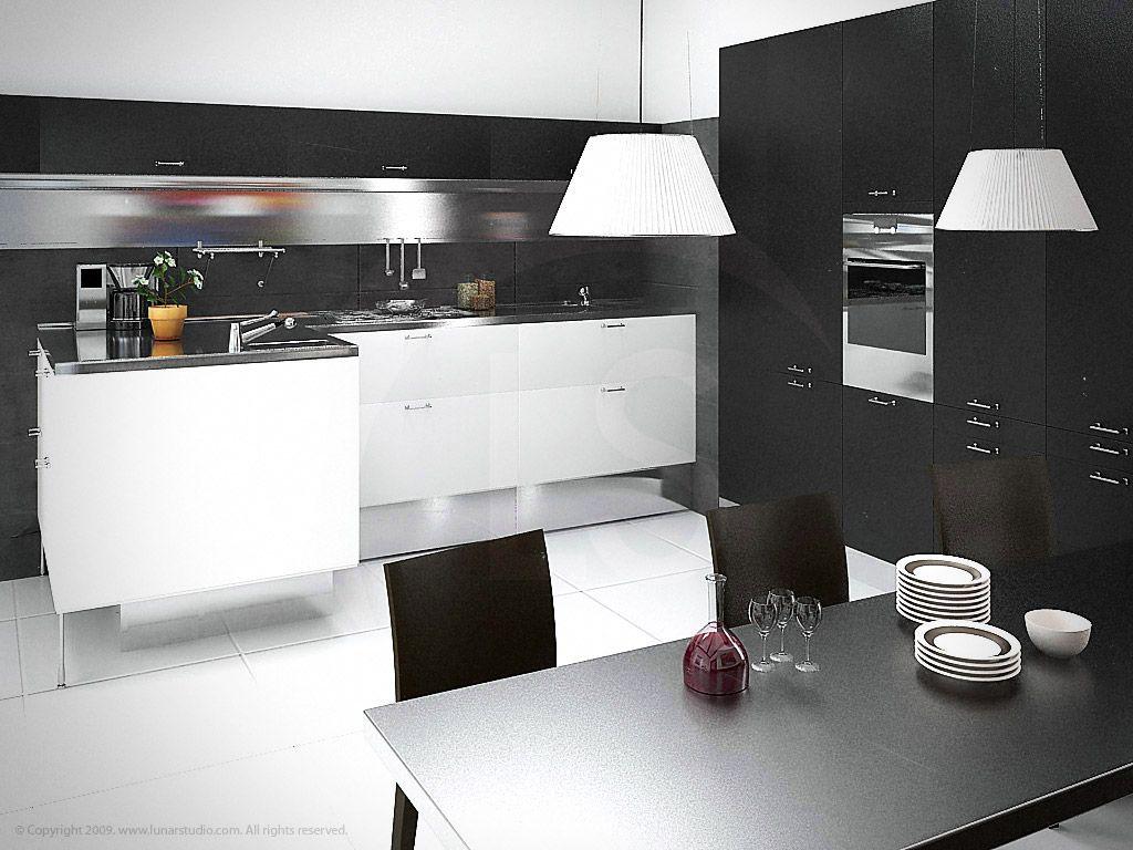 Kitchen Architectural Illustration. :: Created After Arclinea/Rimadesio  Boston, MA. Artist U0026 Modeler: Cleo.