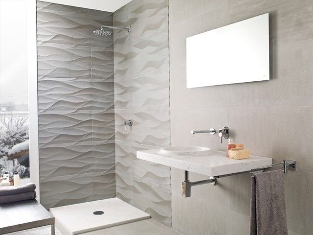 Modern Bathroom Tile Porcelanosa Aluminum Leaf Modern Bathroom