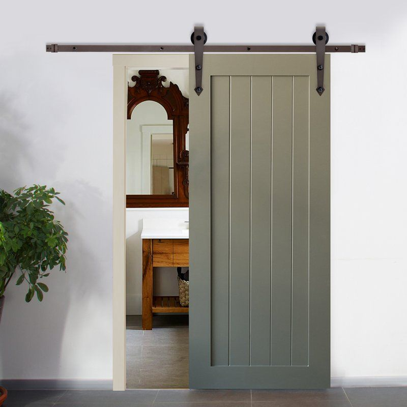 Vintage Arrow Sliding Standard Single Barn Door Hardware Kit Barn Style Sliding Doors Sliding Barn Door Hardware Exterior Doors
