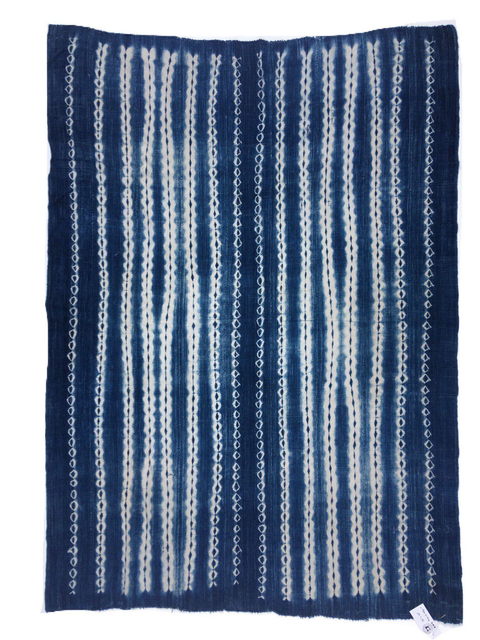 Mud Cloth Indigo Vintage African Shibori Textile Indigo Throw Boho Home Decor Bed Throw By Morrisseyfabric Indigo Throw Vintage Home Decor Shibori Textiles