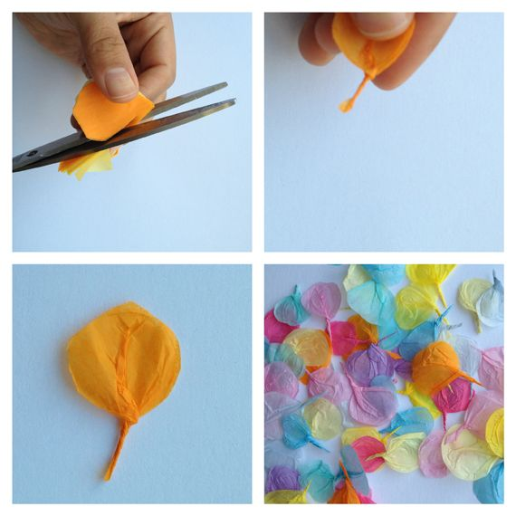 tutorial for a petal card make beautiful tissue petals collage – Unique Birthday Cards to Make