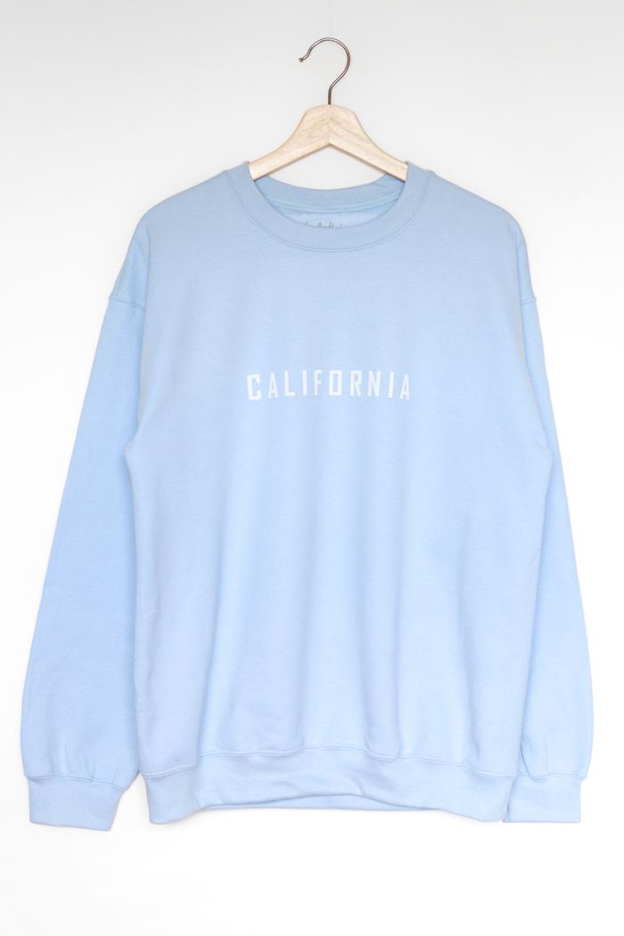 Nyct Clothing California Oversized Sweatshirt Light Blue California Sweatshirt Sweatshirt Fashion Sweatshirt Outfit