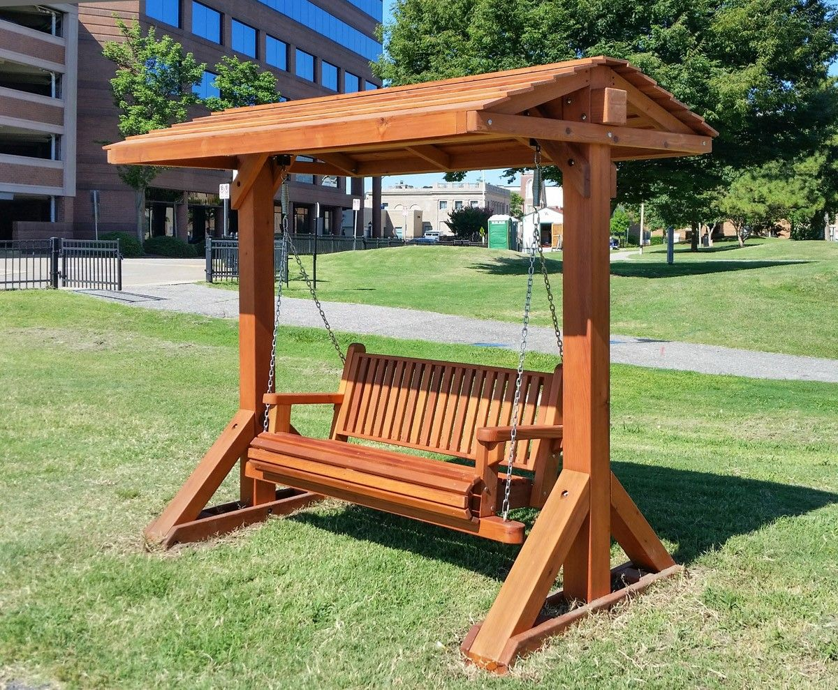 Bench Swing Sets, Built to Last Decades Forever Redwood