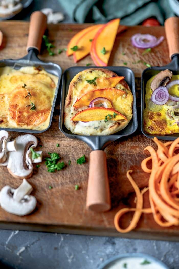 Raclette im Herbst: Flammkuchen, Süßkartoffel-Gratin und mehr! ⋆ Knusperstübchen #racletteideen