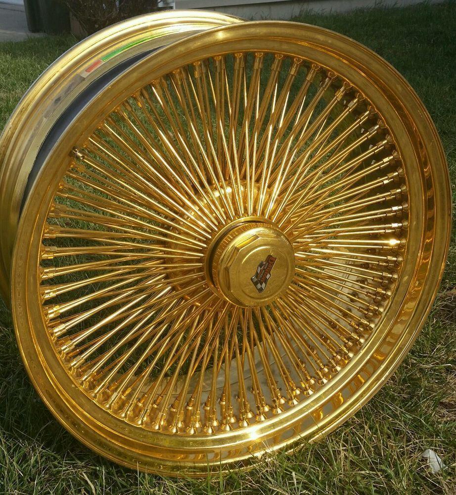 24 Inch Stamped Gold Dayton Wire Wheels Custom Wheels Car Stuff