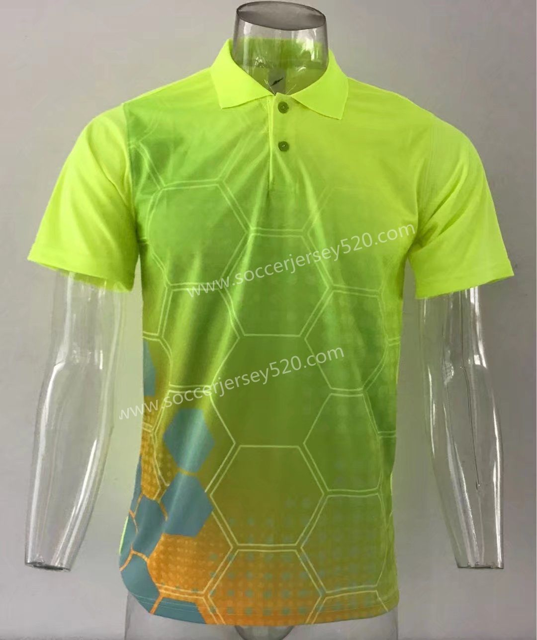 Thailand Polo Shirt Without Logo Fluorescent Green Top 21 Cheap