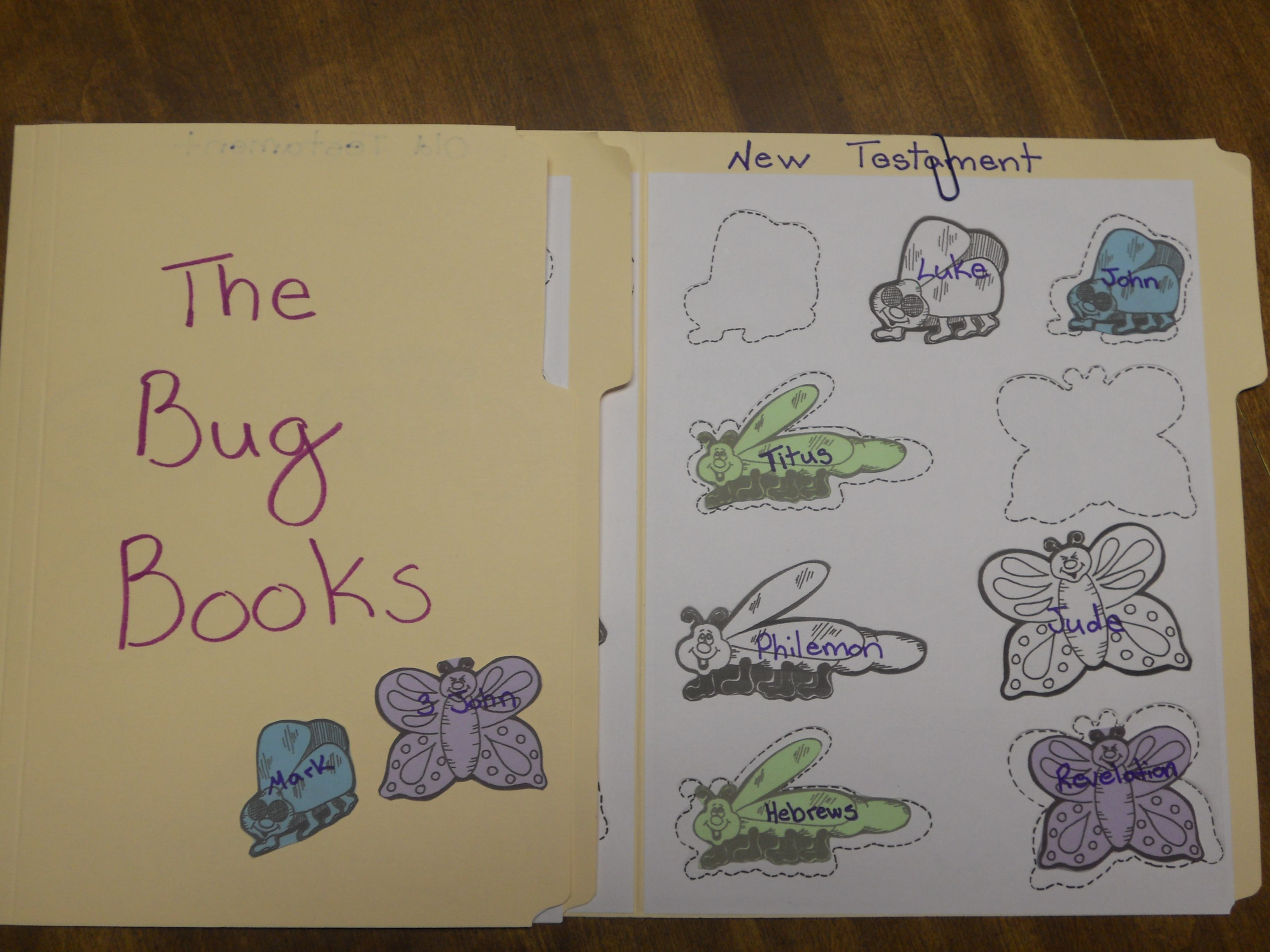 The Bug Books This Is A File Folder Game Where Children