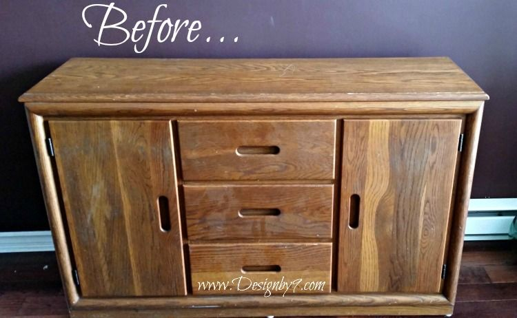 Dark Wood Mirrored Credenza : How to make a mirrored buffet from dresser diy crafts projects