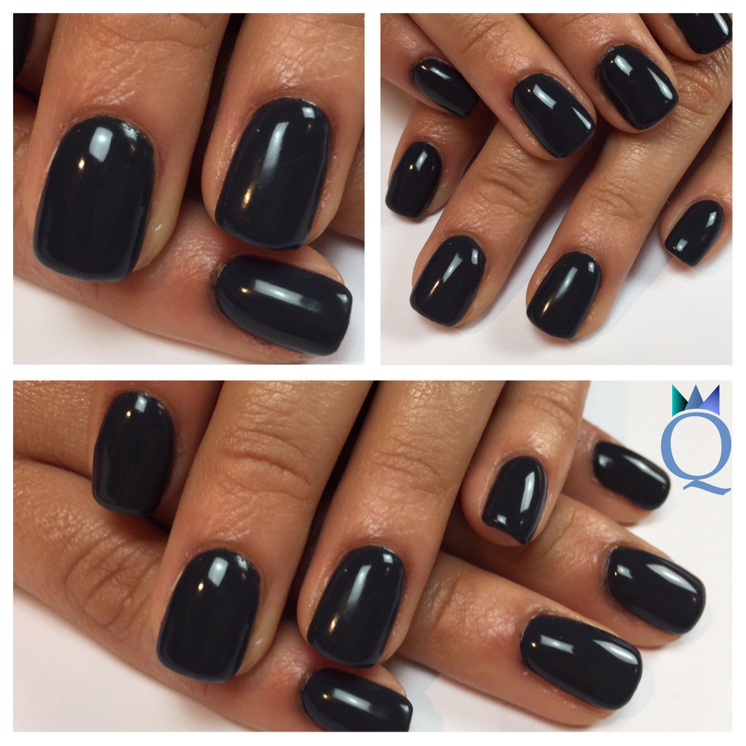 shortnails #gelnails #nails #darkgrey #akyado #kurzenägel #gelnägel ...