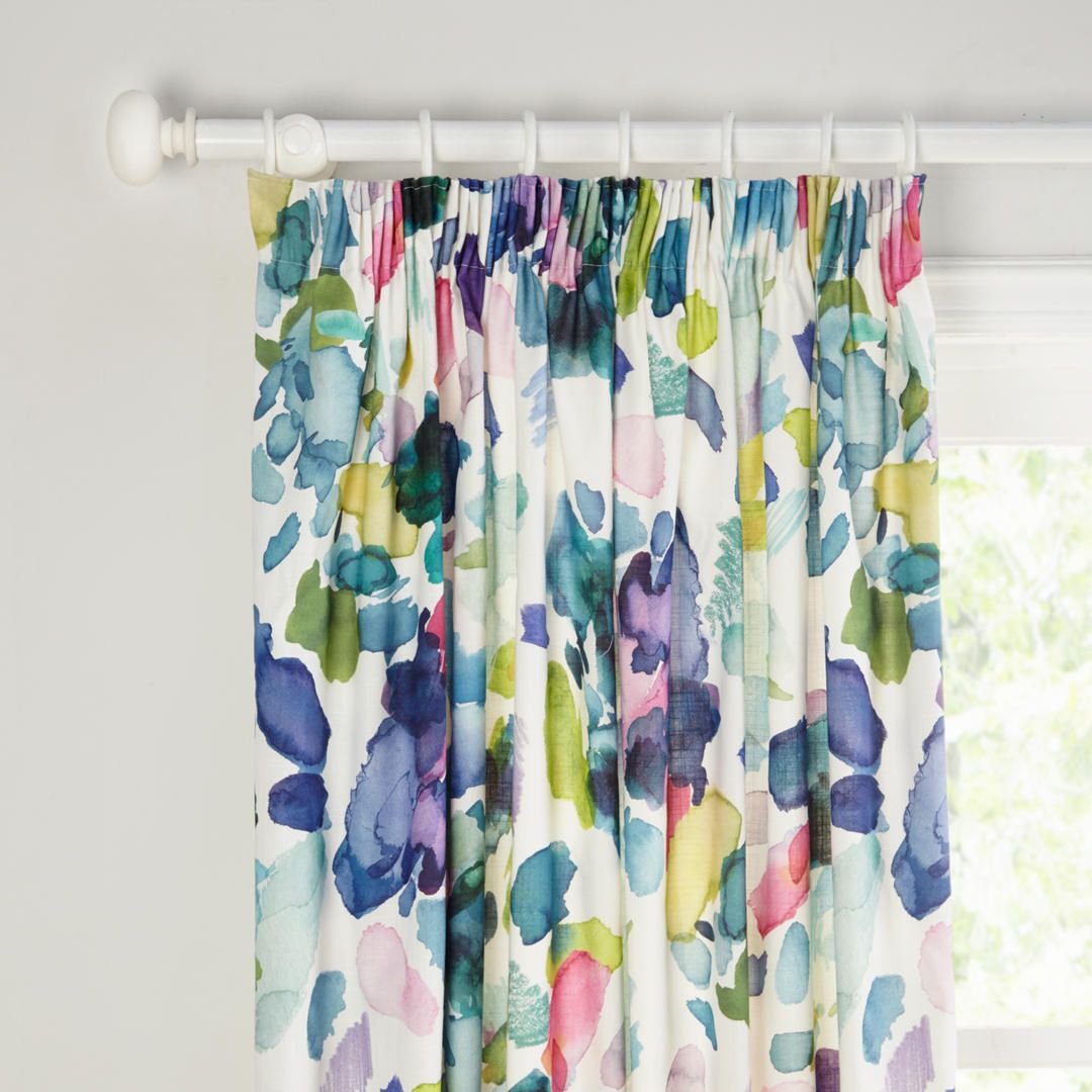 Bluebellgray Palette Pair Lined Pencil Pleat Curtains Pencil