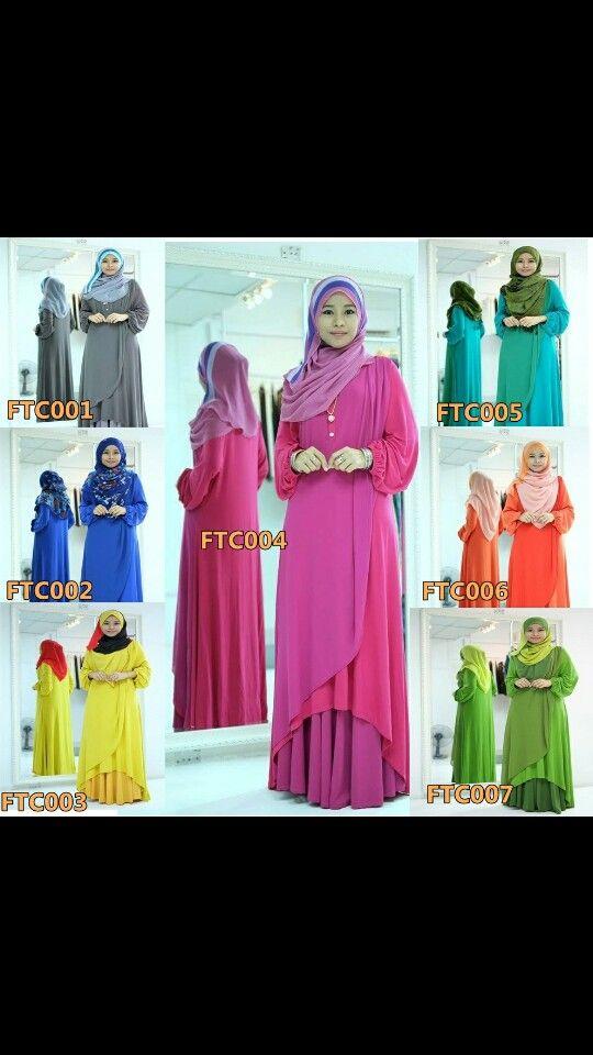 I like the layered look of this abaya.